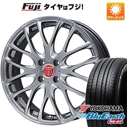 タイヤはフジ 送料無料 PREMIX プレミックス グラッパ(マットクリスタルシルバー) 6.5J 6.50-17 YOKOHAMA ブルーアース RV-02 205/55R17 17インチ サマータイヤ ホイール4本セット