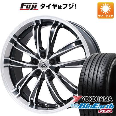 タイヤはフジ 送料無料 TECHNOPIA テクノピア カシーナ XV-5 8J 8.00-19 YOKOHAMA ブルーアース RV-02 245/45R19 19インチ サマータイヤ ホイール4本セット
