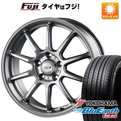 タイヤはフジ 送料無料 INTER MILANO インターミラノ LCZ 010 7J 7.00-18 YOKOHAMA ブルーアース RV-02 225/60R18 18インチ サマータイヤ ホイール4本セット