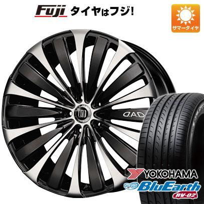 タイヤはフジ 送料無料 GARSON ギャルソン ヴェルーガ 7.5J 7.50-19 YOKOHAMA ブルーアース RV-02 245/45R19 19インチ サマータイヤ ホイール4本セット