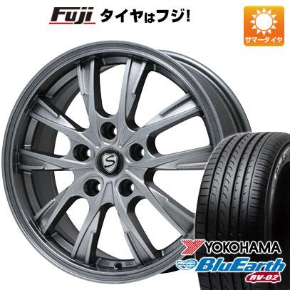 タイヤはフジ 送料無料 BRANDLE ブランドル 486 7J 7.00-17 YOKOHAMA ブルーアース RV-02 205/55R17 17インチ サマータイヤ ホイール4本セット