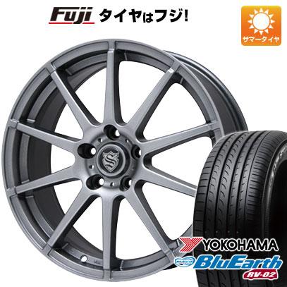 タイヤはフジ 送料無料 BRANDLE ブランドル 562 7J 7.00-17 YOKOHAMA ブルーアース RV-02 215/55R17 17インチ サマータイヤ ホイール4本セット