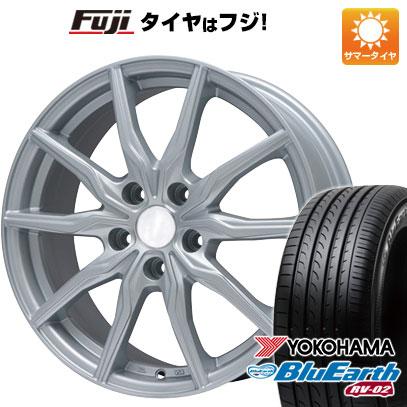 タイヤはフジ 送料無料 BRANDLE ブランドル 008 7J 7.00-16 YOKOHAMA ブルーアース RV-02 215/60R16 16インチ サマータイヤ ホイール4本セット