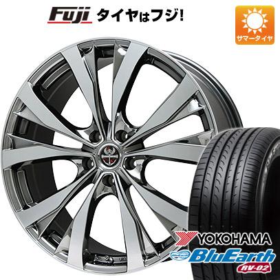 タイヤはフジ 送料無料 PREMIX プレミックス サッシカイア(BMCポリッシュ) 7J 7.00-18 YOKOHAMA ブルーアース RV-02 225/55R18 18インチ サマータイヤ ホイール4本セット