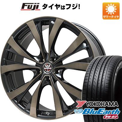 タイヤはフジ 送料無料 PREMIX プレミックス サッシカイア(ブロンズクリア) 7.5J 7.50-19 YOKOHAMA ブルーアース RV-02 225/55R19 19インチ サマータイヤ ホイール4本セット
