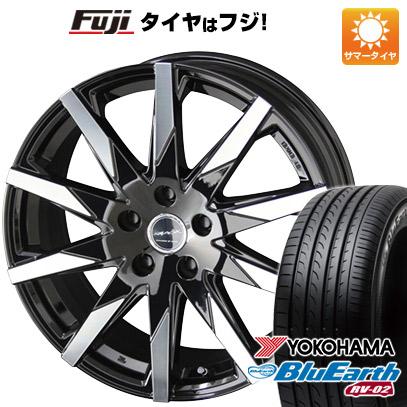 タイヤはフジ 送料無料 KYOHO 共豊 スマック スフィーダ 7.5J 7.50-18 YOKOHAMA ブルーアース RV-02 225/50R18 18インチ サマータイヤ ホイール4本セット