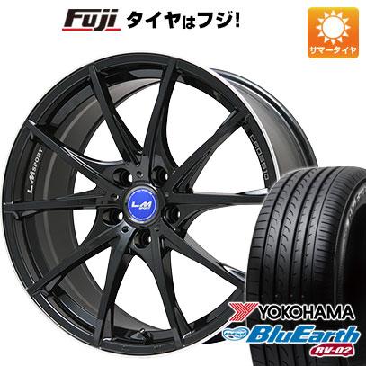 タイヤはフジ 送料無料 LEHRMEISTER レアマイスター LMスポーツクロス10 ブラックパール 8J 8.00-20 YOKOHAMA ブルーアース RV-02 245/40R20 20インチ サマータイヤ ホイール4本セット