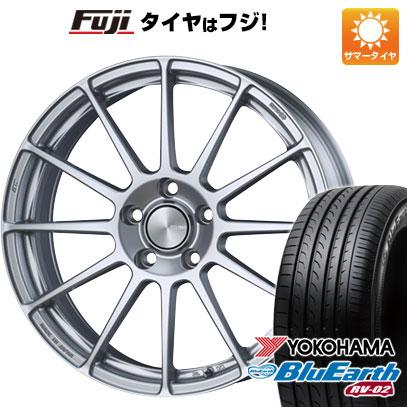 タイヤはフジ 送料無料 ENKEI エンケイ PF03 7J 7.00-17 YOKOHAMA ブルーアース RV-02 215/60R17 17インチ サマータイヤ ホイール4本セット