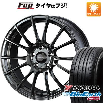 タイヤはフジ 送料無料 WEDS ウェッズスポーツ SA-72R 7.5J 7.50-18 YOKOHAMA ブルーアース RV-02 225/55R18 18インチ サマータイヤ ホイール4本セット