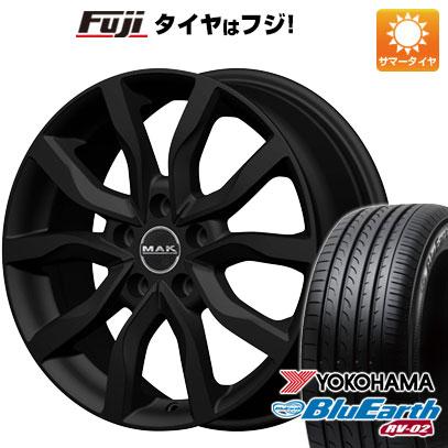 タイヤはフジ 送料無料 MAK ケルン 7J 7.00-17 YOKOHAMA ブルーアース RV-02 215/55R17 17インチ サマータイヤ ホイール4本セット
