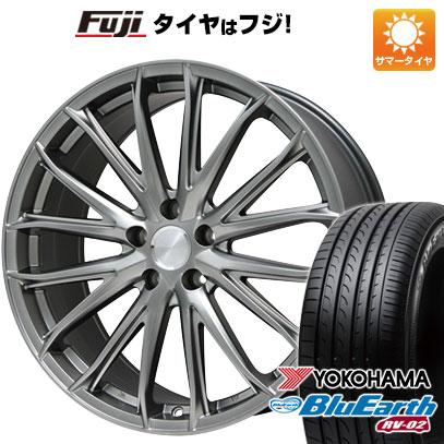 タイヤはフジ 送料無料 BRANDLE ブランドル 757 7.5J 7.50-18 YOKOHAMA ブルーアース RV-02 225/55R18 18インチ サマータイヤ ホイール4本セット