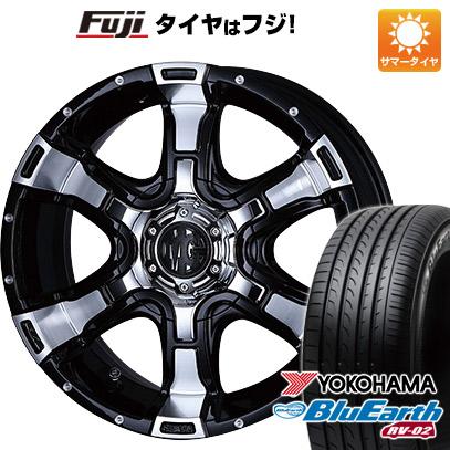 タイヤはフジ 送料無料 CRIMSON クリムソン マーテルギア(MG) ヴァンパイア 7J 7.00-17 YOKOHAMA ブルーアース RV-02 225/60R17 17インチ サマータイヤ ホイール4本セット