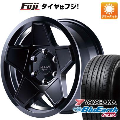 タイヤはフジ 送料無料 ハイエース200系 M-TECHNO エムテクノ M.T.S. S-インパクト 8J 8.00-18 YOKOHAMA ブルーアース RV-02 225/50R18 18インチ サマータイヤ ホイール4本セット