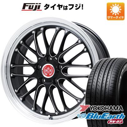 タイヤはフジ 送料無料 LEHRMEISTER レアマイスター ブルネッロ(ブラックエッジブラッシュド) 8J 8.00-19 YOKOHAMA ブルーアース RV-02 225/40R19 19インチ サマータイヤ ホイール4本セット