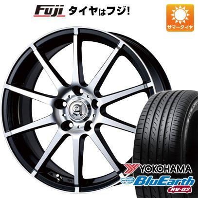 タイヤはフジ 送料無料 TECHNOPIA テクノピア アドニス HSR 7.5J 7.50-18 YOKOHAMA ブルーアース RV-02 235/50R18 18インチ サマータイヤ ホイール4本セット