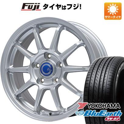 タイヤはフジ 送料無料 BRANDLE ブランドル M60 7J 7.00-17 YOKOHAMA ブルーアース RV-02 225/60R17 17インチ サマータイヤ ホイール4本セット