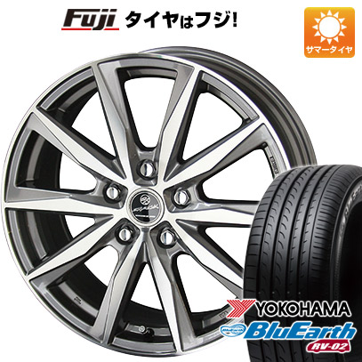 タイヤはフジ 送料無料 KYOHO 共豊 スマック プライム バサルト 7J 7.00-17 YOKOHAMA ブルーアース RV-02 215/60R17 17インチ サマータイヤ ホイール4本セット