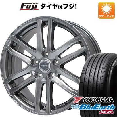 タイヤはフジ 送料無料 プリウス BRANDLE ブランドル G61 7J 7.00-17 YOKOHAMA ブルーアース RV-02 215/45R17 17インチ サマータイヤ ホイール4本セット