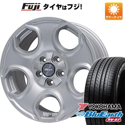 タイヤはフジ 送料無料 PREMIX プレミックス ギア(パールシルバー) 7.5J 7.50-17 YOKOHAMA ブルーアース RV-02 225/65R17 17インチ サマータイヤ ホイール4本セット