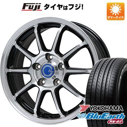 タイヤはフジ 送料無料 BRANDLE ブランドル M60B 7J 7.00-17 YOKOHAMA ブルーアース RV-02 205/55R17 17インチ サマータイヤ ホイール4本セット