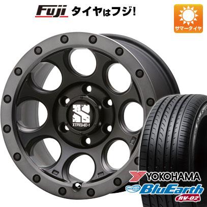 タイヤはフジ 送料無料 MLJ エクストリームJ XJ03 8J 8.00-18 YOKOHAMA ブルーアース RV-02 225/55R18 18インチ サマータイヤ ホイール4本セット