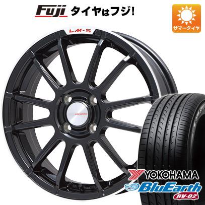 タイヤはフジ 送料無料 LEHRMEISTER LM-S トスカーナ6 (ブラック/リムポリッシュ) 7J 7.00-17 YOKOHAMA ブルーアース RV-02 225/65R17 17インチ サマータイヤ ホイール4本セット