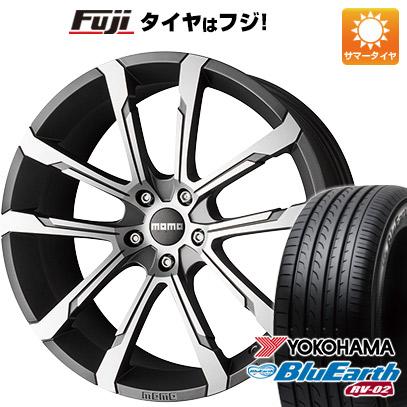 タイヤはフジ 送料無料 MOMO モモ クアンタムEVO 8J 8.00-18 YOKOHAMA ブルーアース RV-02 225/55R18 18インチ サマータイヤ ホイール4本セット