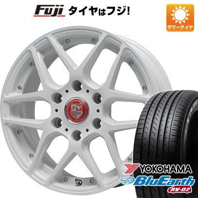タイヤはフジ 送料無料 ハイエース200系 PREMIX プレミックス ミュンスター(ホワイト) 7.5J 7.50-18 YOKOHAMA ブルーアース RV-02 215/55R18 18インチ サマータイヤ ホイール4本セット