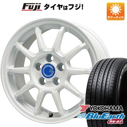 タイヤはフジ 送料無料 BRANDLE-LINE ブランドルライン カルッシャー ホワイト 6.5J 6.50-16 YOKOHAMA ブルーアース RV-02 205/65R16 16インチ サマータイヤ ホイール4本セット