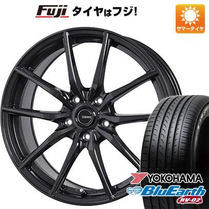 タイヤはフジ 送料無料 HOT STUFF ホットスタッフ ジースピード G-02 7.5J 7.50-18 YOKOHAMA ブルーアース RV-02 225/45R18 18インチ サマータイヤ ホイール4本セット