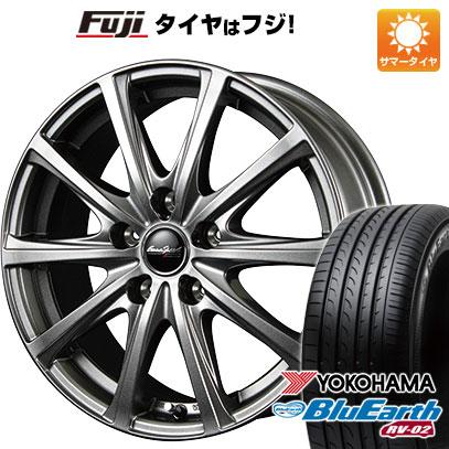 タイヤはフジ 送料無料 MID ユーロスピード V25 7.5J 7.50-18 YOKOHAMA ブルーアース RV-02 235/50R18 18インチ サマータイヤ ホイール4本セット