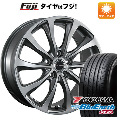 タイヤはフジ 送料無料 BRIDGESTONE ブリヂストン バルミナ TR10 6J 6.00-15 YOKOHAMA ブルーアース RV-02 195/65R15 15インチ サマータイヤ ホイール4本セット