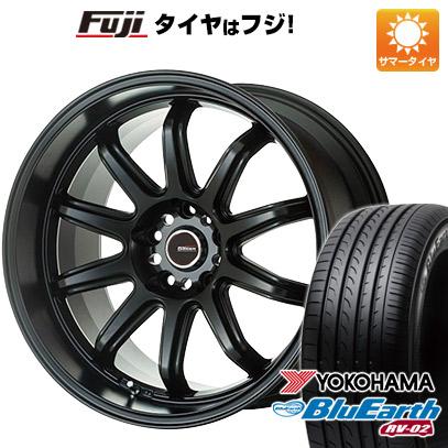 タイヤはフジ 送料無料 5ZIGEN ゴジゲン ファイヤーボールダブルアール 7J 7.00-17 YOKOHAMA ブルーアース RV-02 225/60R17 17インチ サマータイヤ ホイール4本セット