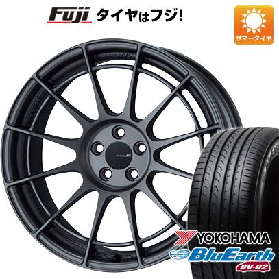 タイヤはフジ 送料無料 ENKEI エンケイ NT03 RR 7.5J 7.50-17 YOKOHAMA ブルーアース RV-02 225/65R17 17インチ サマータイヤ ホイール4本セット