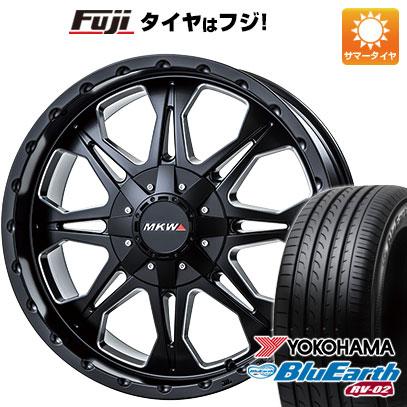 タイヤはフジ 送料無料 MKW MK-66 8.5J 8.50-20 YOKOHAMA ブルーアース RV-02 245/40R20 20インチ サマータイヤ ホイール4本セット