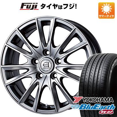 タイヤはフジ 送料無料 TECHNOPIA テクノピア アフロディーテ EF 6.5J 6.50-16 YOKOHAMA ブルーアース RV-02 215/65R16 16インチ サマータイヤ ホイール4本セット