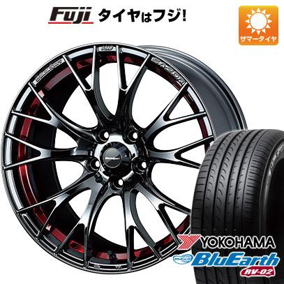 タイヤはフジ 送料無料 WEDS ウェッズスポーツ SA-20R 7.5J 7.50-18 YOKOHAMA ブルーアース RV-02 225/55R18 18インチ サマータイヤ ホイール4本セット