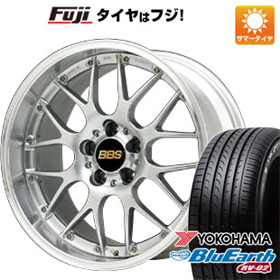 タイヤはフジ 送料無料 BBS JAPAN BBS RS-GT 8J 8.00-19 YOKOHAMA ブルーアース RV-02 245/45R19 19インチ サマータイヤ ホイール4本セット