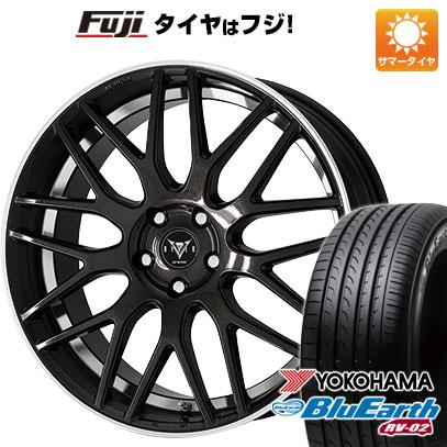 タイヤはフジ 送料無料 WORK ワーク レイバー M009 8J 8.00-18 YOKOHAMA ブルーアース RV-02 235/50R18 18インチ サマータイヤ ホイール4本セット
