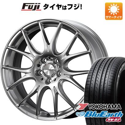 タイヤはフジ 送料無料 RAYS レイズ ホムラ 2X7PLUS 7.5J 7.50-19 YOKOHAMA ブルーアース RV-02 225/40R19 19インチ サマータイヤ ホイール4本セット