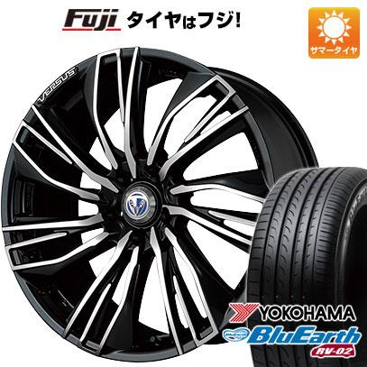 タイヤはフジ 送料無料 VERSUS ベルサス ストラテジーア コンキスタ 7.5J 7.50-19 YOKOHAMA ブルーアース RV-02 225/45R19 19インチ サマータイヤ ホイール4本セット