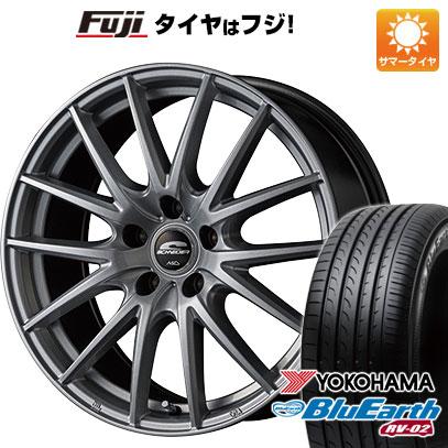 タイヤはフジ 送料無料 MID シュナイダー SQ27 6J 6.00-15 YOKOHAMA ブルーアース RV-02 205/65R15 15インチ サマータイヤ ホイール4本セット
