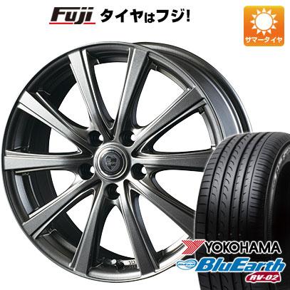 タイヤはフジ 送料無料 INTER MILANO インターミラノ クレール DG10 6.5J 6.50-16 YOKOHAMA ブルーアース RV-02 205/60R16 16インチ サマータイヤ ホイール4本セット