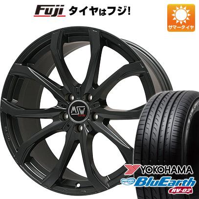 タイヤはフジ 送料無料 MSW by OZ Racing MSW 48(マットブラック) 7.5J 7.50-17 YOKOHAMA ブルーアース RV-02 225/65R17 17インチ サマータイヤ ホイール4本セット