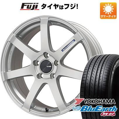 タイヤはフジ 送料無料 ENKEI エンケイ PF07 7J 7.00-17 YOKOHAMA ブルーアース RV-02 215/50R17 17インチ サマータイヤ ホイール4本セット
