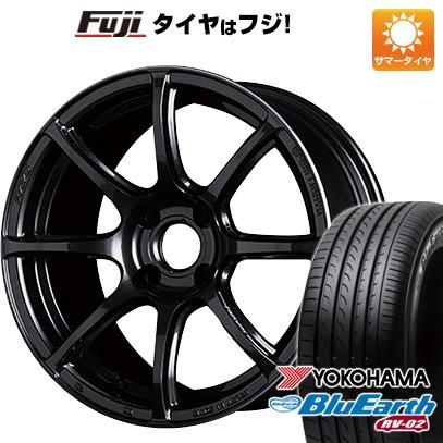 タイヤはフジ 送料無料 RAYS レイズ グラムライツ 57トランセンド 7.5J 7.50-17 YOKOHAMA ブルーアース RV-02 225/65R17 17インチ サマータイヤ ホイール4本セット
