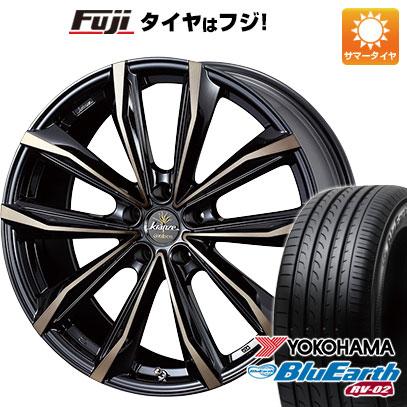 タイヤはフジ 送料無料 WEDS ウェッズ クレンツェ グラベン 680EVO 7.5J 7.50-18 YOKOHAMA ブルーアース RV-02 225/55R18 18インチ サマータイヤ ホイール4本セット