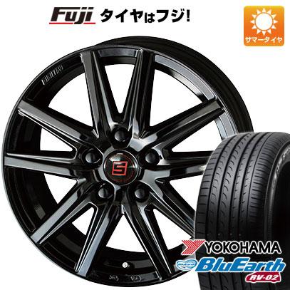 タイヤはフジ 送料無料 KYOHO 共豊 キョウホウ ザインSS ブラックエディション 6J 6.00-15 YOKOHAMA ブルーアース RV-02 195/65R15 15インチ サマータイヤ ホイール4本セット