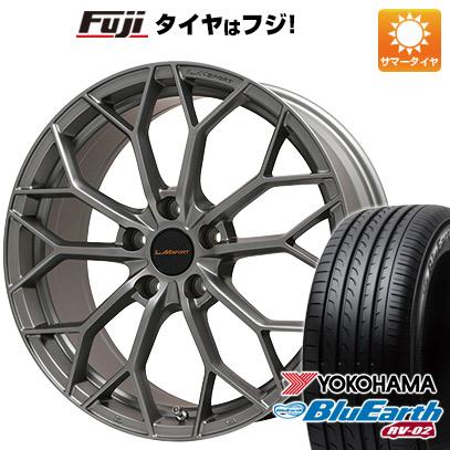 タイヤはフジ 送料無料 LEHRMEISTER レアマイスター LMスポーツLM-55M (マットガンメタ) 7.5J 7.50-18 YOKOHAMA ブルーアース RV-02 225/50R18 18インチ サマータイヤ ホイール4本セット