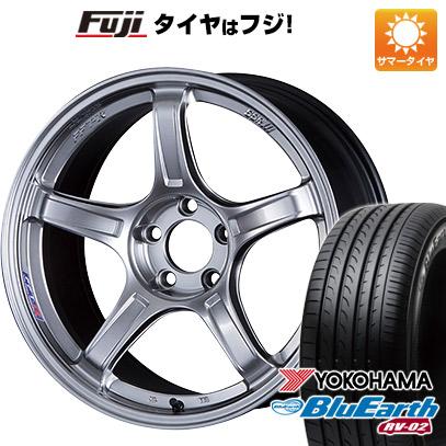 タイヤはフジ 送料無料 SSR GTX03 7.5J 7.50-18 YOKOHAMA ブルーアース RV-02 225/55R18 18インチ サマータイヤ ホイール4本セット